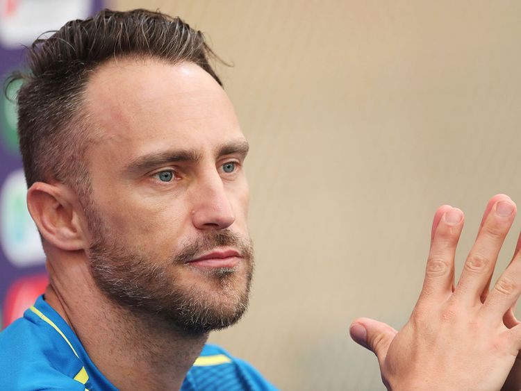 South Africa's captain Faf du Plessis