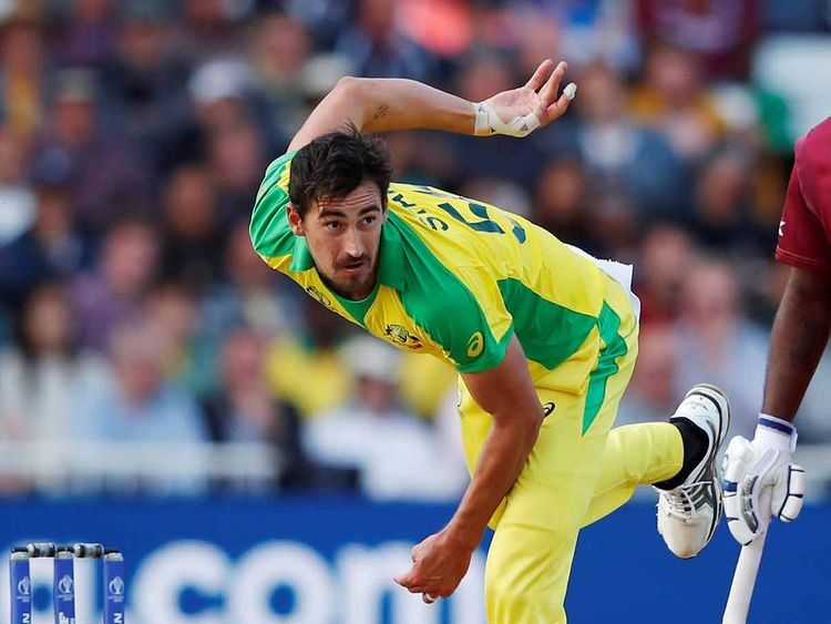 Australian Mitchell Starc in action  20190607