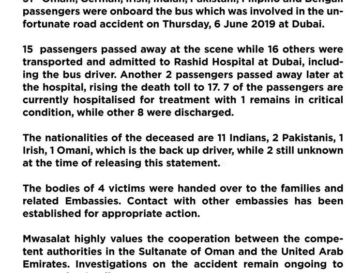Families broken after 17 die in Dubai bus crash