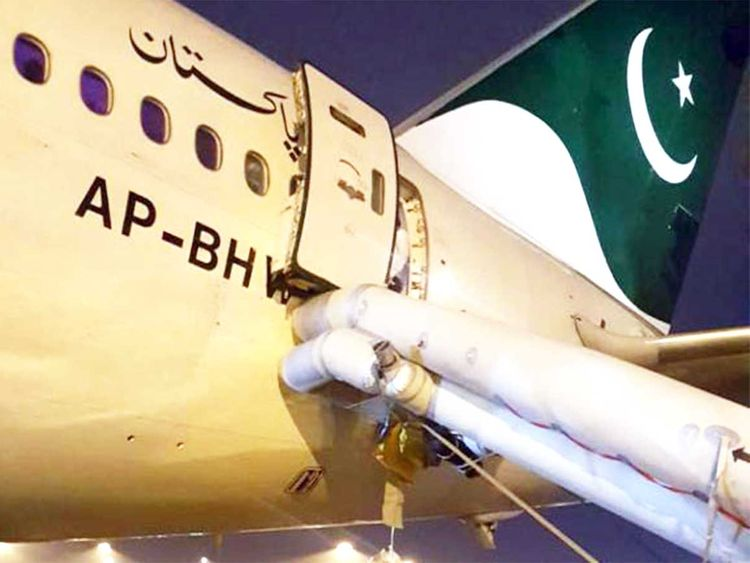 PIA passenger opens emergency exit door thinking it's a