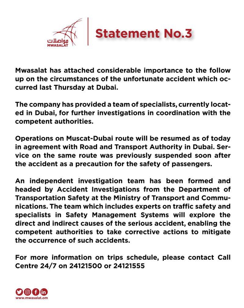 Bus service statement