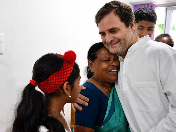 Congress President Rahul Gandhi met Rajamma
