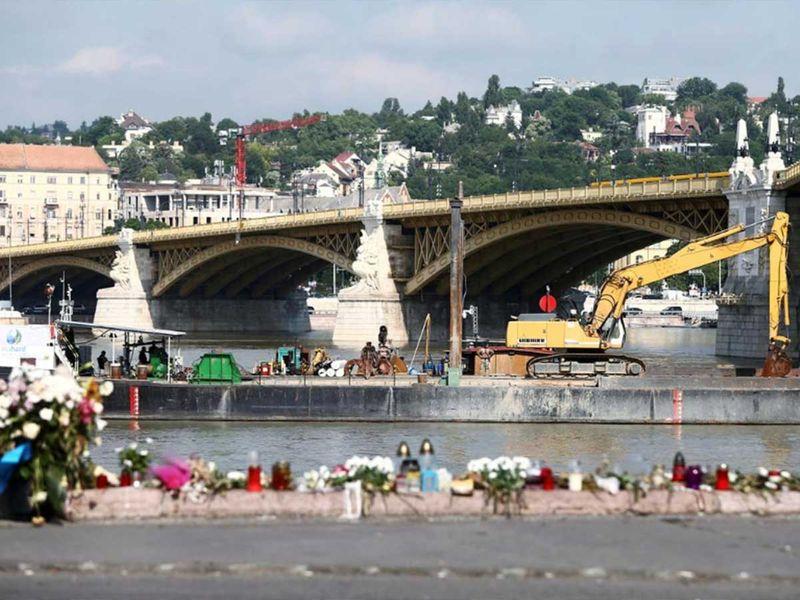 Danube river in Budapest, Hungary, June 7