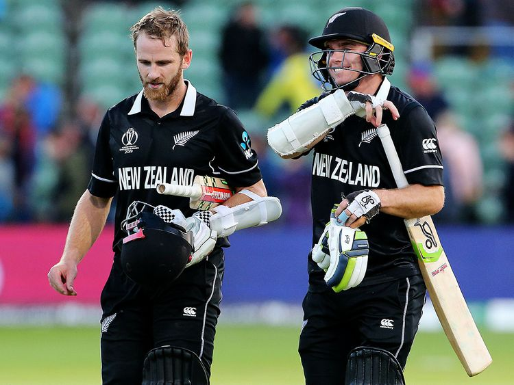 New Zealand's Kane Williamson and Tom Latham