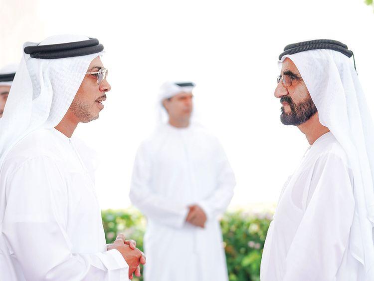 Shaikh Mohammad holds talks with Shaikh Mansour