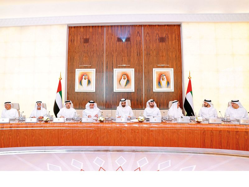 The UAE Cabinet being chaired by Shaikh Mohammad Bin Rashid