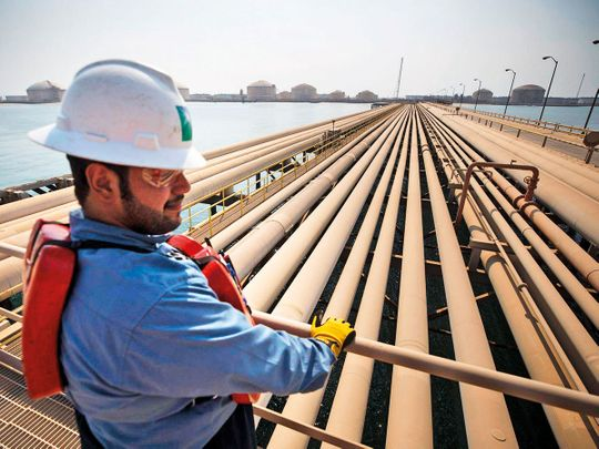 Aramco's Ras Tanura oil refinery and oil terminal in Ras Tanura