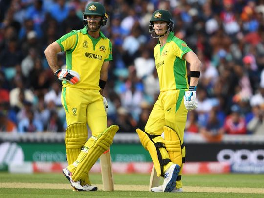 Australia's Steve Smith (right) and Glenn Maxwell