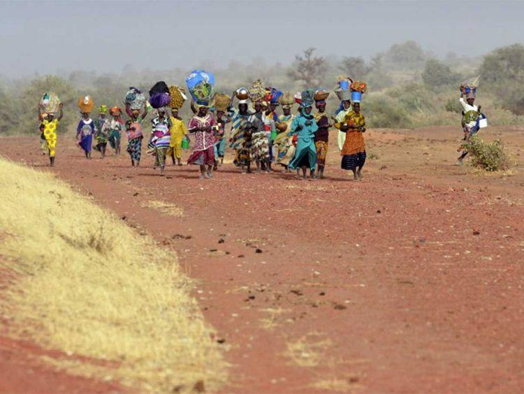 Women belonging to the Dogon ethnic group Mali