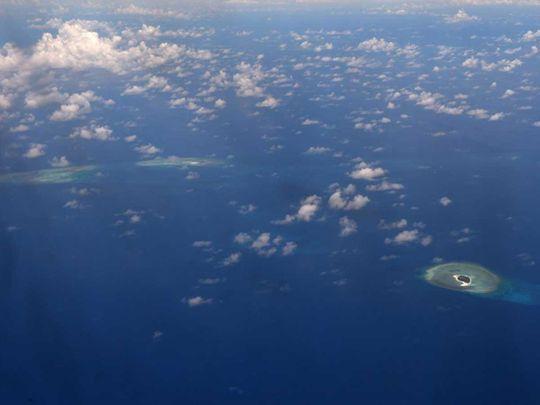 reefs in the disputed Spratlys