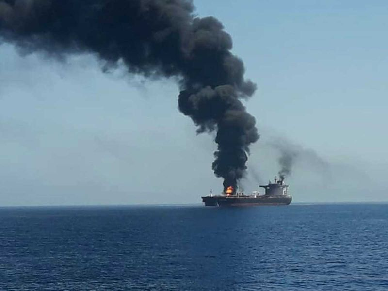 Two tankers struck in suspected attacks in Gulf of Oman