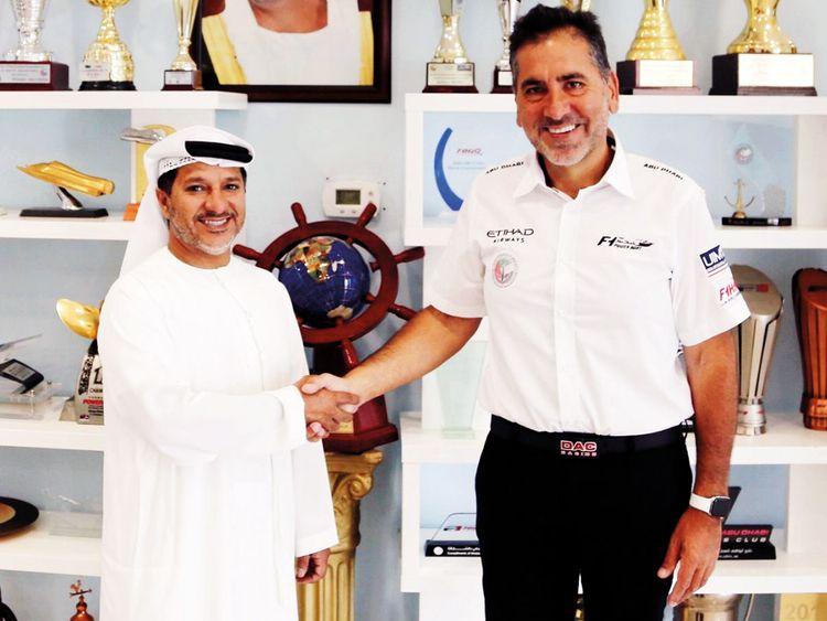 ADIMSC General Manager Salem Al Rumaithi with Guido Cappellini.