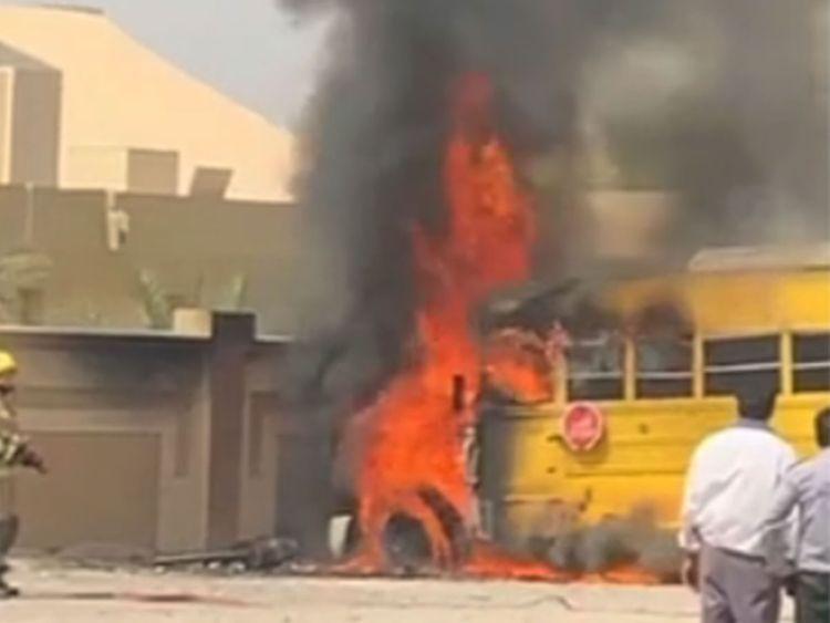 School bus catches fire in Ras Al Khaimah