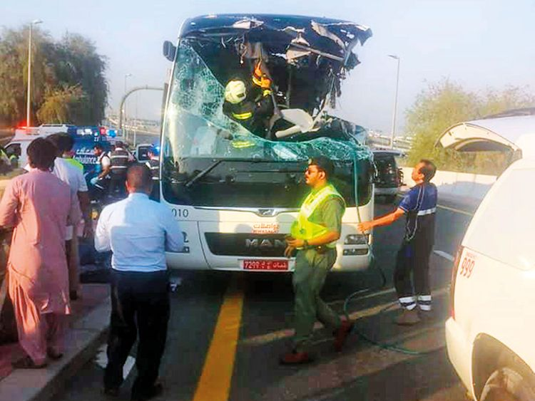 Seventeen people were killed in the horrific road accident