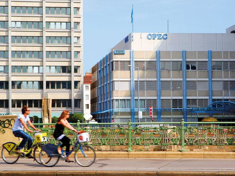 The Opec headquarters in Vienna