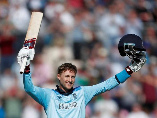 England's Joe Root celebrates a century
