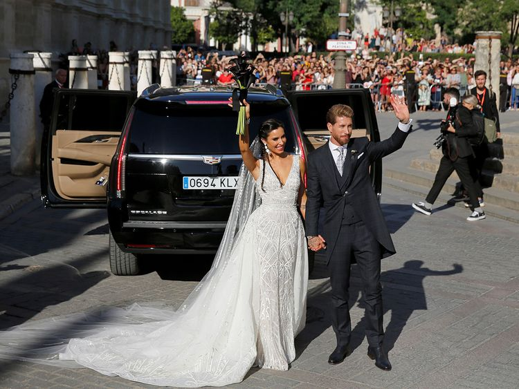 Ramos Marries Tv Personality In Galactico Wedding To The Sound Of