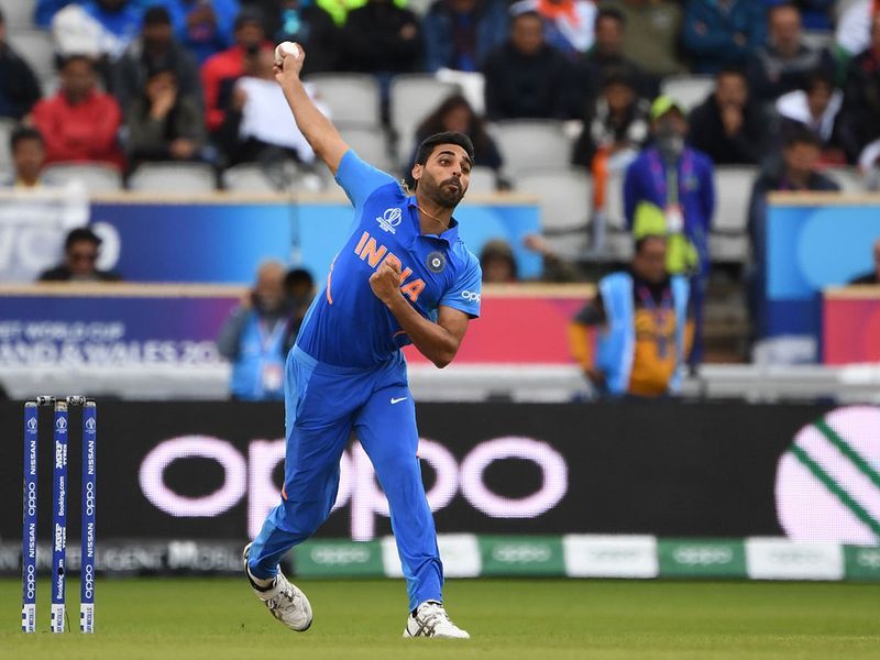India's Bhuvneshwar Kumar delivers a ball