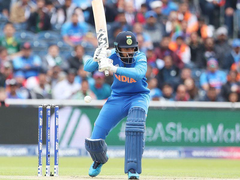 India's K.L. Rahul bats