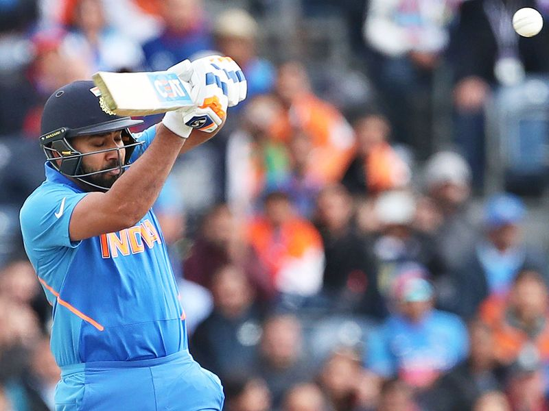 India's Rohit Sharma bats during the match
