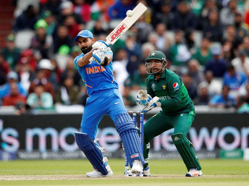 India's Virat Kohli plays a shot