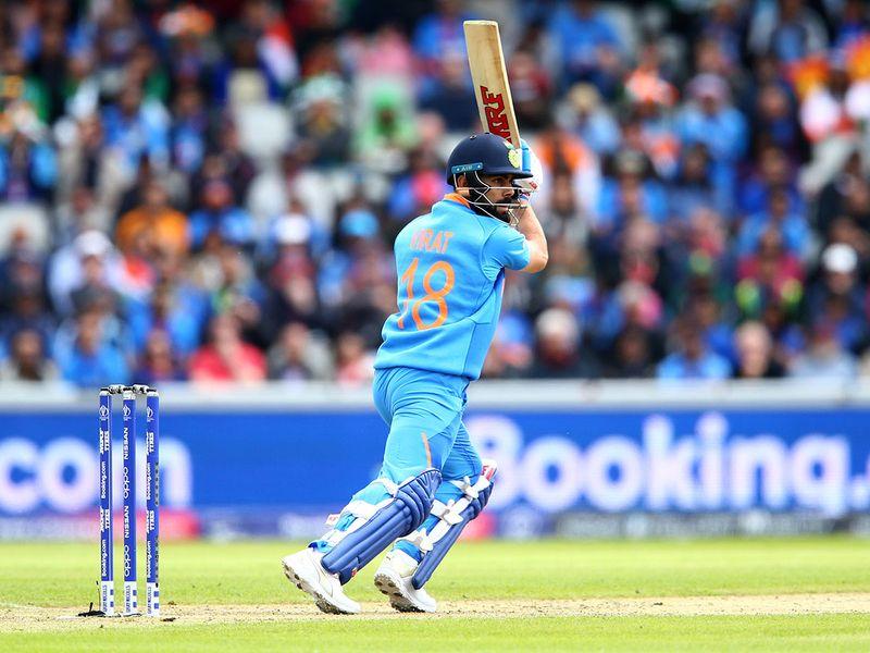 India's captain Virat Kohli plays a shot