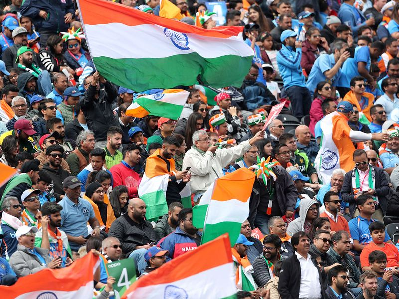 Indian fans cheer