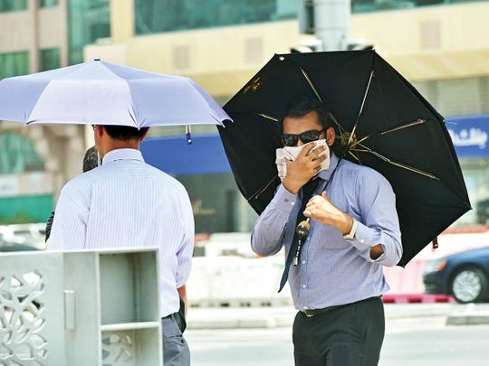 UAE weather: Strong winds cause dusty skies in Fujairah, NCM issues alert, partly cloudy skies in Sharjah, Ras Al Khaimah, sunny conditions in Dubai