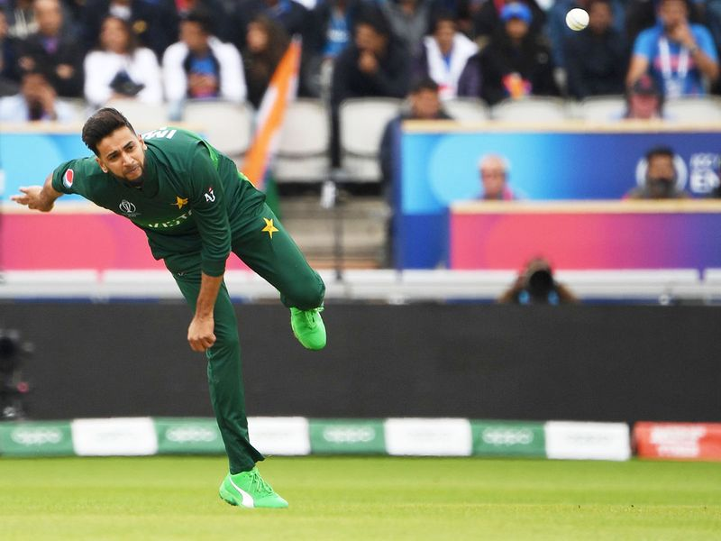Pakistan's Imad Wasim delivers a ball