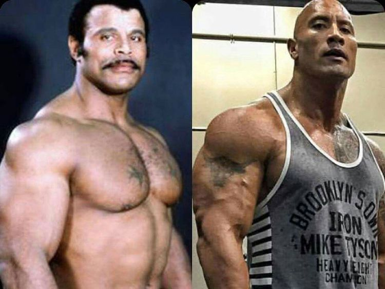 The Rock and father Rocky Johnson
