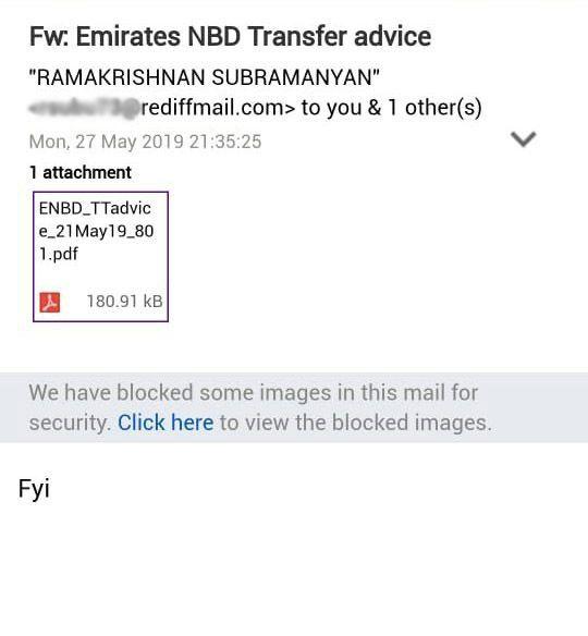 Emirates NBD online scam