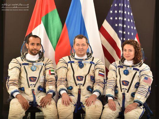 Hazza Al Mansouri and crew
