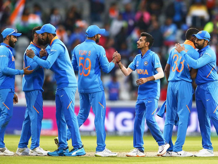 India cricket team celebrate