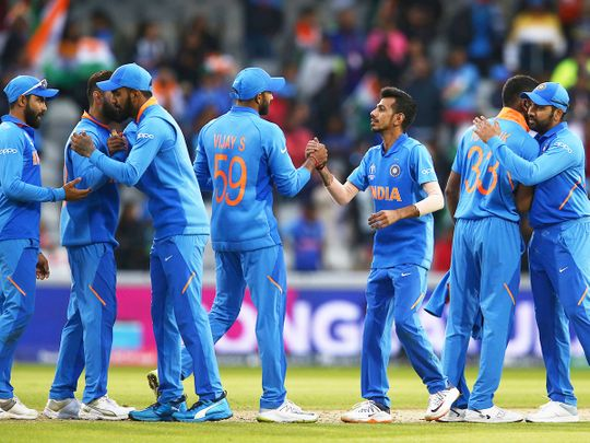 India cricket team celebrate
