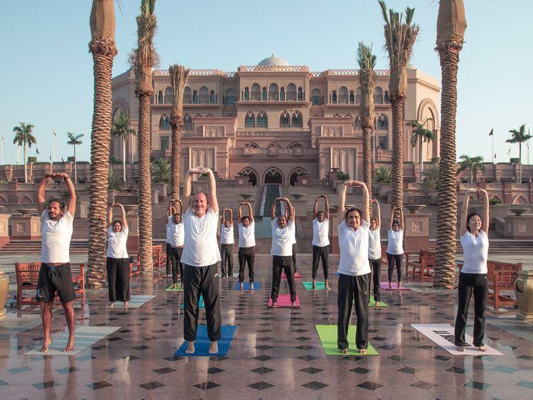 International Day of Yoga at Emirates Palace