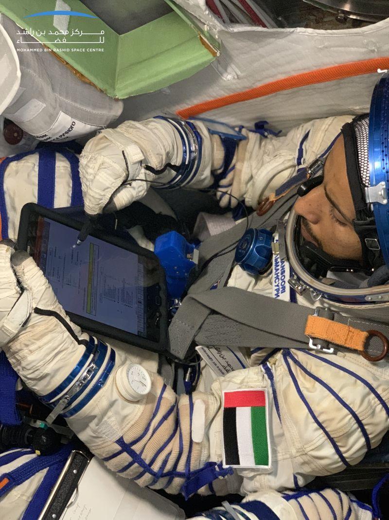 UAE astronaut Hazza Al Mansouri in training