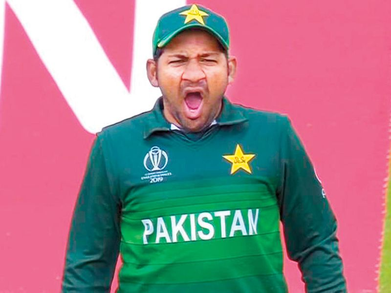 Pakistan captain Sarfaraz Ahmad yawns
