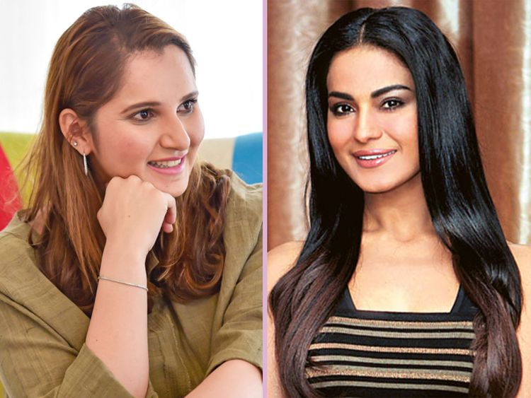 Sania Mirza (left) and Veena Malik