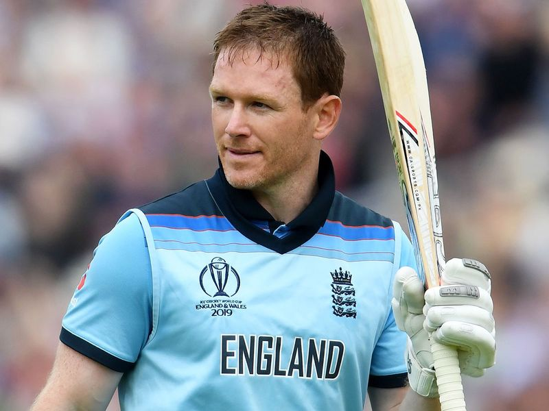 England's captain Eoin Morgan acknowledges the crowd