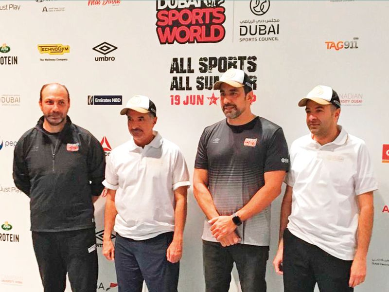 Officials from Dubai Sports Council and Dubai World Trade Centre