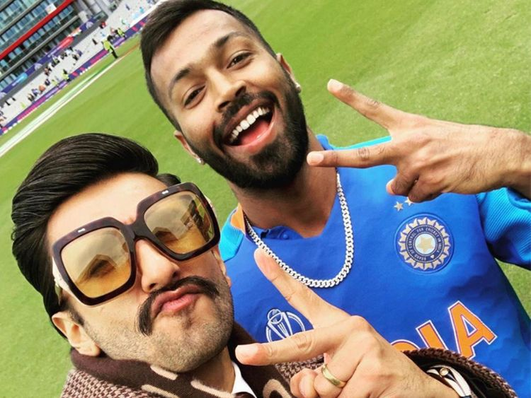 Ranveer Singh with Hardik Pandya