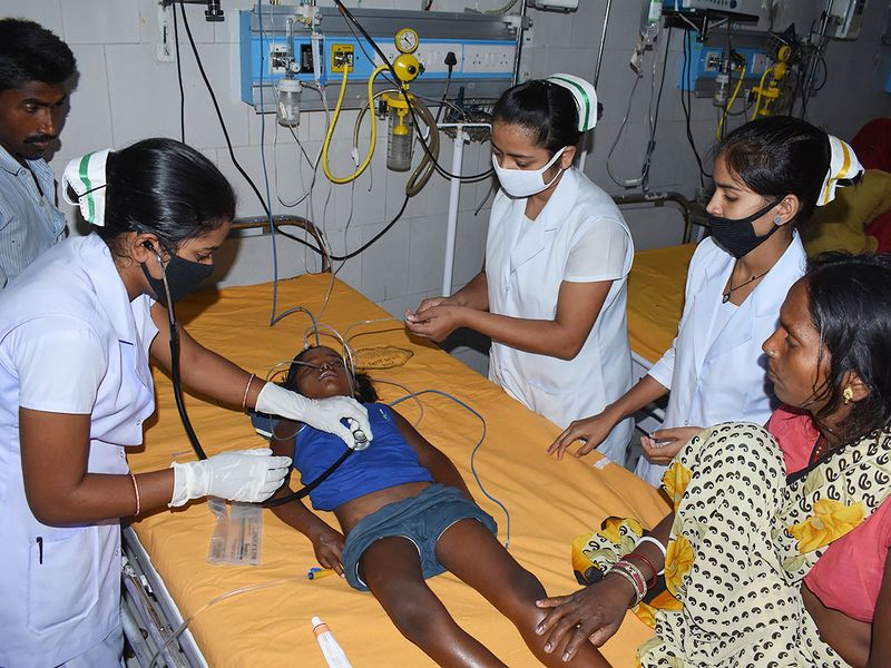 A child suffering from Acute Encephalitis Syndrome