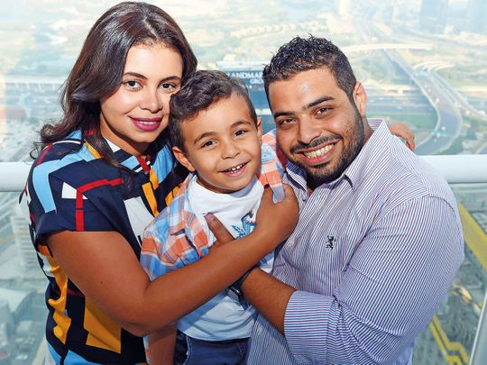 Aya Baker, her husband Tarek Ahmad Fouad Syed and son Yousuf