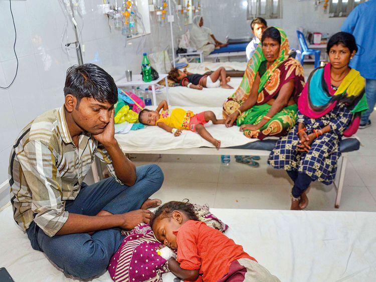 Children showing symptoms of Acute Encephalitis Syndrome