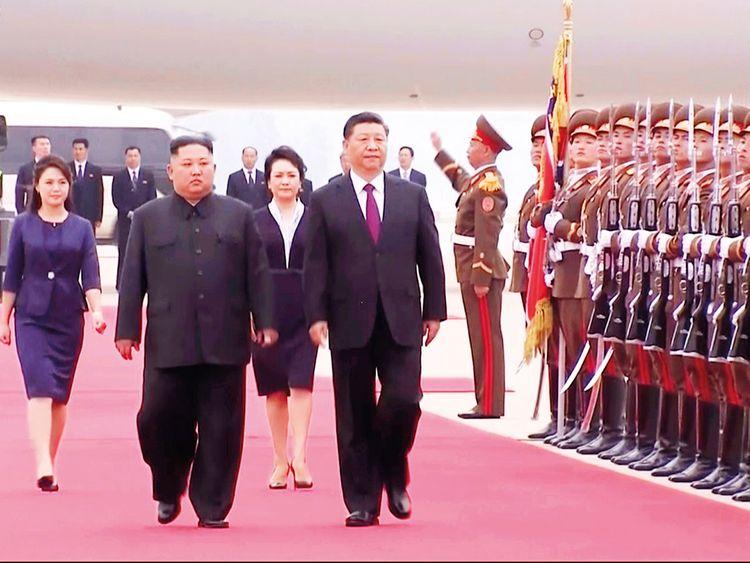 Kim Jong-un and Xi