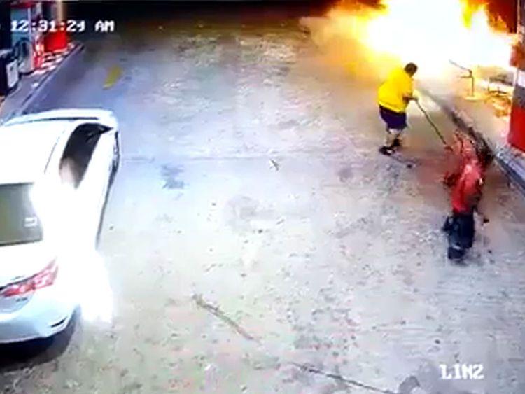 Saudi fire at petrol station