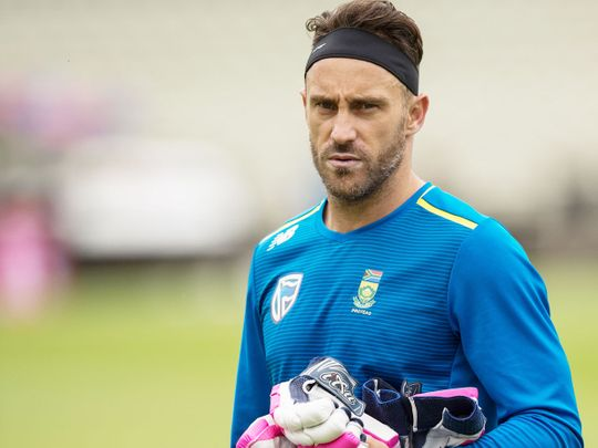 South Africa's captain Faf du Plessis