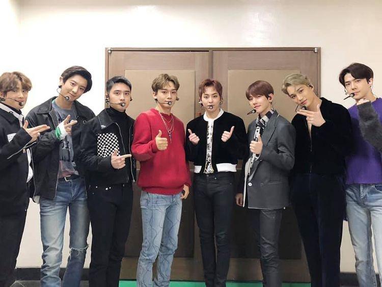 EXO - L to R - Suho, Chanyeol, D.O, Chen, Xiumin, Baekhyun, Kai and Sehun.-1561283798890
