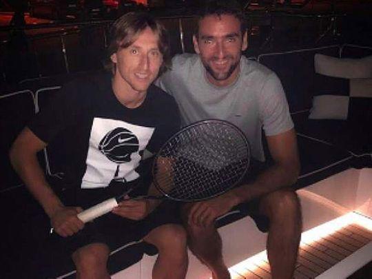 Luka Modric and Marin Cilic