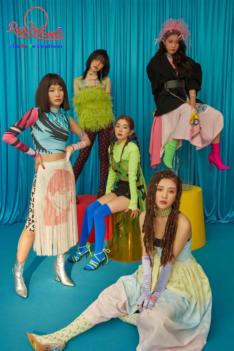 Red Velvet - Clockwise from left – Seulgi, Wendy, Irene, Yeri and Joy.-1561282830766